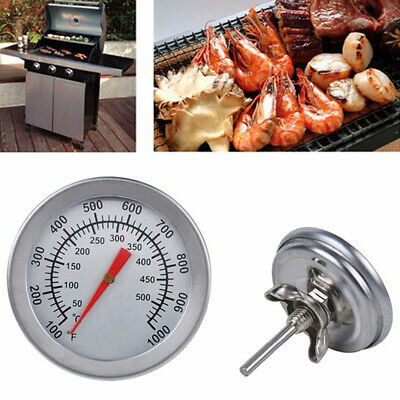 £4.19 • Buy 50-500 Celsius Stainless Steel Barbecue BBQ Smoker Grill Thermometer Temperature
