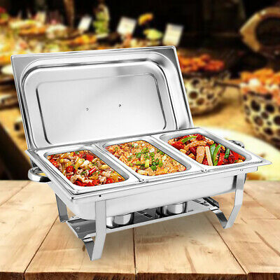 £44.60 • Buy 9L Chafer Chafing Dish Sets Pans Stainless Food Warmer Catering Buffet Water Pan