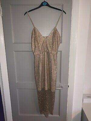 £3 • Buy Gold Sequin Dress Size 8