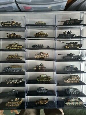 £1100 • Buy Deagostini 'Combat Tank Collection' - 121 Models 1:72 Scale & Magazines - NEW.
