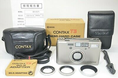 $ CDN2704.10 • Buy CONTAX T3 Silver 35mm Film Camera With CC-82 Case Overhauled Film Tested