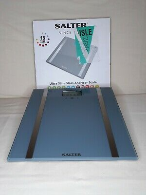 £16.99 • Buy Salter Ultra Slim Analyser Grey Glass Bathroom Scale - Box Opened But Not Used.
