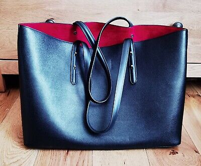£185 • Buy Aspinal Of London Black Large Leather Tote Bag - Used