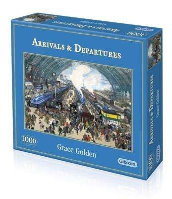 £7.99 • Buy Gibsons ARRIVALS & DEPARTURES 1000 Piece Jigsaw Puzzle Post War Railway Station