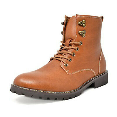 $15.19 • Buy Men Oxford Dress Ankle Boots Lace Up Faux Fur Lining Motorcycle Boots Shoes Size