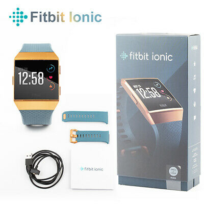 AU205.90 • Buy Fitbit Ionic GPS Smart Watch-Large And Small Size Bands Fitness Activity Tracker