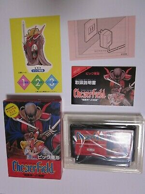 £39.65 • Buy Chester Field FC Nintendo Famicom Box And Manual And Sticker Rare Japan