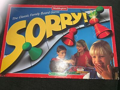 £16 • Buy Vintage Retro 1997 Waddingtons Sorry! Classic Family Board Game *COMPLETE*