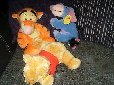 £6.50 • Buy Disney  - Tigger-Eeyore With Swirling Tail -Winnie The Pooh - Soft Cuddly Toys