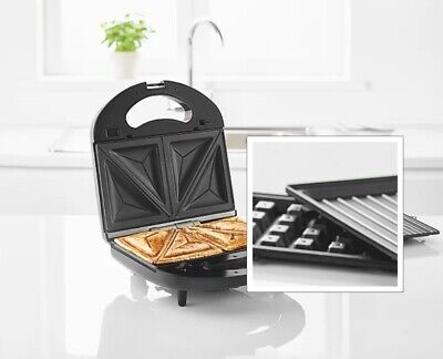 £19.99 • Buy Sandwich Maker Debranded 3 In 1 Toastie Waffle Or Grill With Removeable Plates