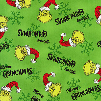 £8.75 • Buy How The Grinch Stole Christmas - Fabric Material