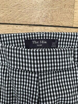 £5.50 • Buy Marks And Spencer The Mia Checked Trouser Size 10
