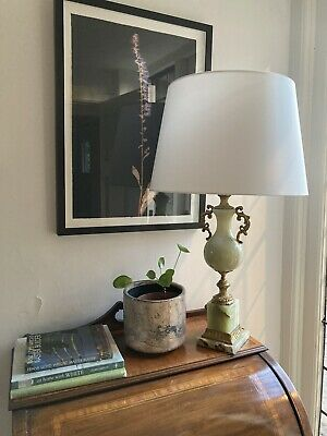 £50 • Buy Green Onyx And Brass Lamp