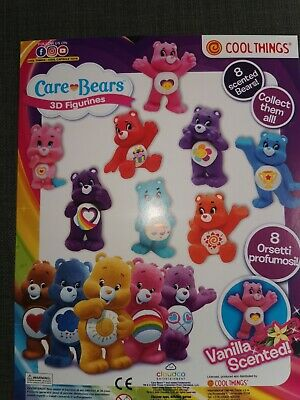 £11.99 • Buy Scented Care Bears 3D, 8 X Figurines Charms Vanilla Scented Ideal Party Bag