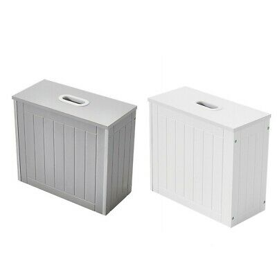 £13.99 • Buy Slimline Wooden Toilet Cleaning Products Storage Box Tidy Unit Bathroom