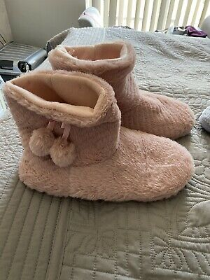 £1.50 • Buy Ladies Pink Boot Slippers Size 7/8