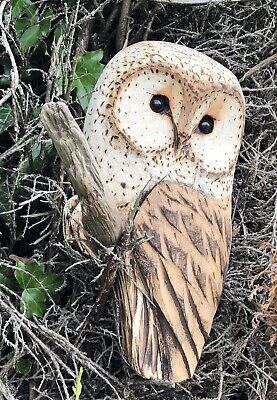 £35 • Buy Bespoke Chainsaw Owl Carvings In Wood OW1309