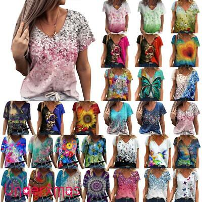 £9.19 • Buy UK Plus Size Womens V-Neck Tops T-Shirt Ladies Summer Casual Baggy Blouse Shirts