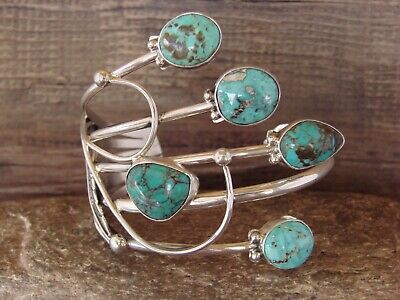 £250.77 • Buy Navajo Indian Jewelry Sterling Silver Multi Stone Turquoise Bracelet