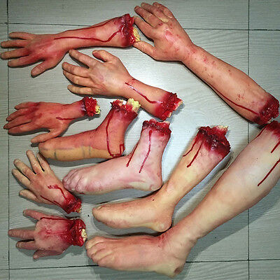 $ CDN18.53 • Buy Halloween Zombie Fake Body Bloody Severed Parts Arm Hand Foot Scary Prank To'