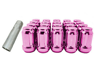 $18 • Buy CPR CLOSE ENDED SPLINE TUNER RACING LUG NUTS- PINK  M12x1.25  20PCS WITH KEY