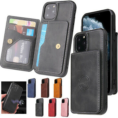 AU13.49 • Buy For IPhone 12  Pro 11 Max 8/7 Plus SE XR XS Case Leather Wallet Back Slim Cover