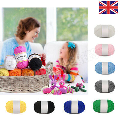 £1.99 • Buy Baby Wool Soft DK Double Knitting Yarn Woolcraft Babycare 100g Balls Multicolor