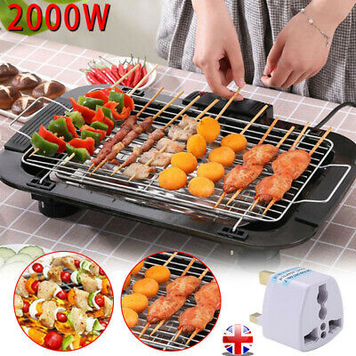 £20.99 • Buy Smokeless Electric Grill Family Health Grill Portable BBQ Indoor Barbecue DIY UK