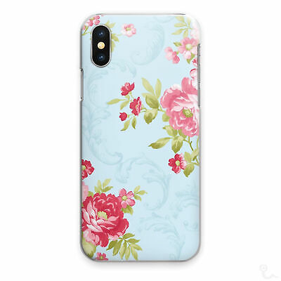 AU15.84 • Buy Blue Floral Print Phone Case Rose Red Hard Cover For Apple Samsung Huawei Sony