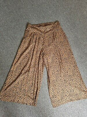 £5.50 • Buy H&M Womens Wideleg Animal Print Culottle Style Trousers Size 16