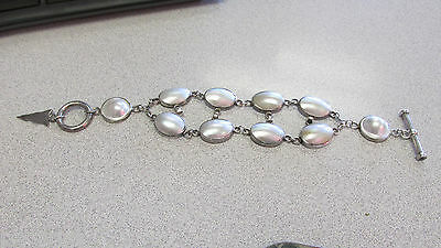 $799.99 • Buy Barry Brinker Sterling Silver 2 Row Mabe Pearl Toggle Bracelet 9 Inch   LOWERED