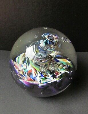 £16 • Buy Vintage Caithness Paperweight Clear Glass Swirl & Bubble Effect 'Myriad' Model