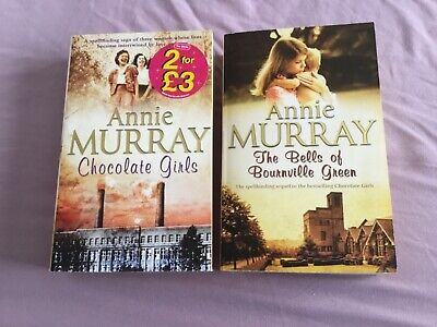 £5 • Buy Annie Murray - Chocolate Girls & Bells Of Bournville Green - Paperbacks