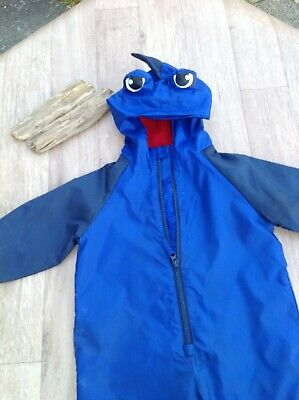 £4.88 • Buy Boys Blue Puddle Suit 12-18M - Wet Play Holiday Camping Caravan All In One Suit
