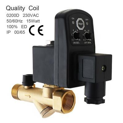 AU33.77 • Buy AC 220V 1/2  Electronic Timed Two Way Air Compressor Gas Tank Auto Drain Valve