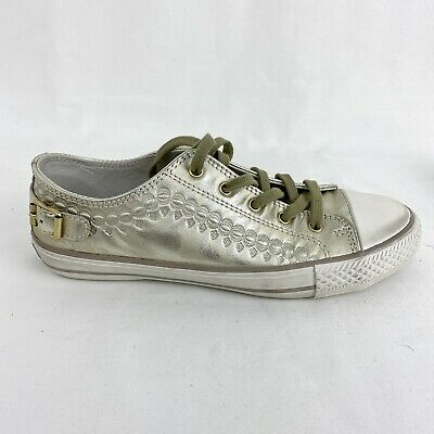 £76 • Buy Ash VIRGO Gold Leather Trainers (38 / UK 5)