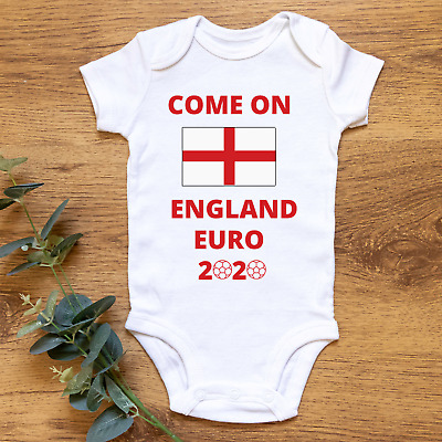 £7.99 • Buy Come On England Euro 2020 Fun Baby Bodysuit Vest 100% Cotton  Football Daddy