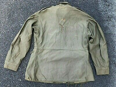 $76 • Buy Original WWII US Souvenir Embroidered M1943 Field Jacket With Woman Follow Me