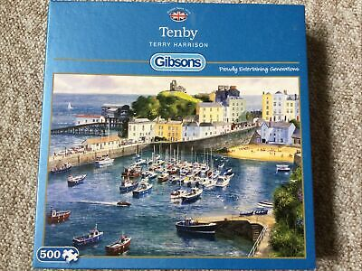 £5 • Buy Gibsons 500 Piece Jigsaw Puzzle  TENBY  By Terry Harrison