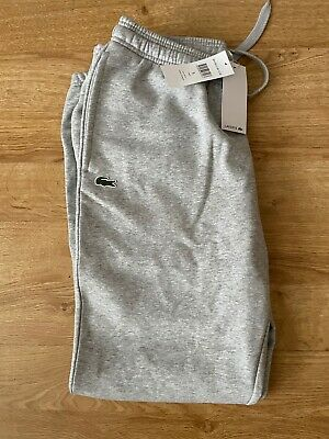 £59.99 • Buy Lacoste Fleece Track Pants In Light Grey Joggers Tracksuit Bottoms L Size 5 RARE