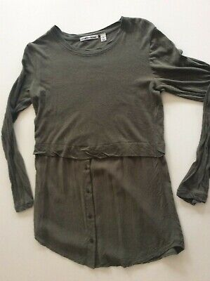 AU7 • Buy Country Road Women's Top Size XS Khaki Linen Cotton Extra Small