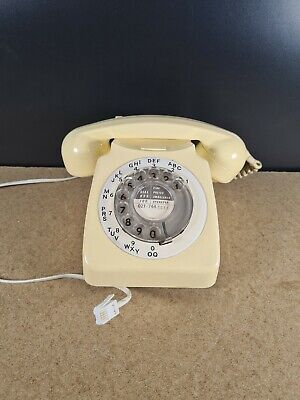 £35 • Buy Vintage GPO Cream Rotary Dial Telephone 746L - 70's Converted And Working Clean