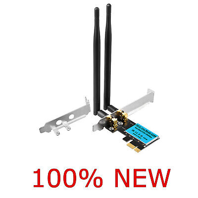 £16.35 • Buy Wireless 1200Mbps PCI-E WiFi Card 2.4G/5G Dual Band Network Adapter 5GHz &2.4GHz