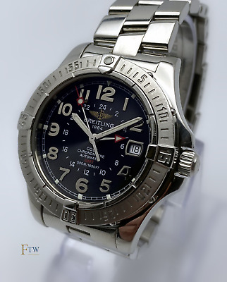£1549 • Buy Breitling Colt Automatic GMT Watch Black/Grey Dial 41mm Boxed & Papers A32350