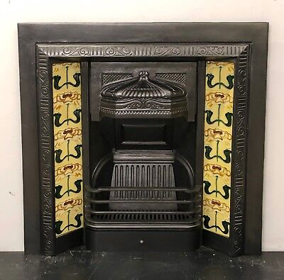 £259 • Buy Victorian Style Cast Iron Tiled Insert Fireplace
