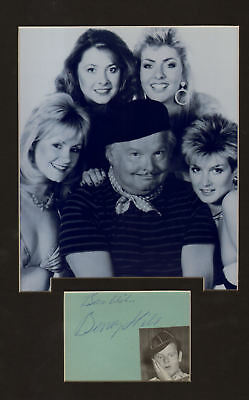 £32.50 • Buy BENNY HILL Signed Autograph Book Page  + Pic Display . UACCRD Retirement SALE