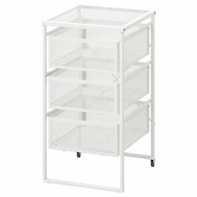 £20.99 • Buy IKEA Lennart 3 Drawers White Storage Unit Castors Home Office Hold A4 Paper BN