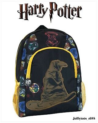 £9.99 • Buy Official Harry Potter Backpack Witches Sorting Hat Kids Rucksack School Bag BNWT