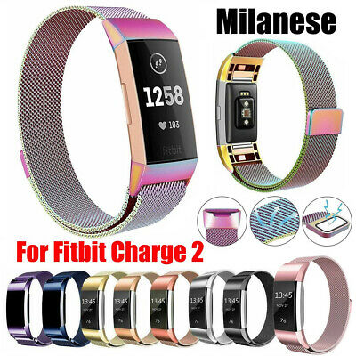 AU12.99 • Buy For Fitbit Charge 2 Strap Replacement Milanese Band Metal Stainless Steel Magnet
