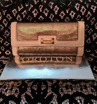 AU115 • Buy Oroton Gold Mesh Leather Wallet Ivory Bnwt In Box